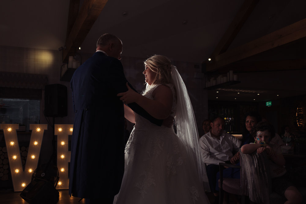Bride has a dance with her father