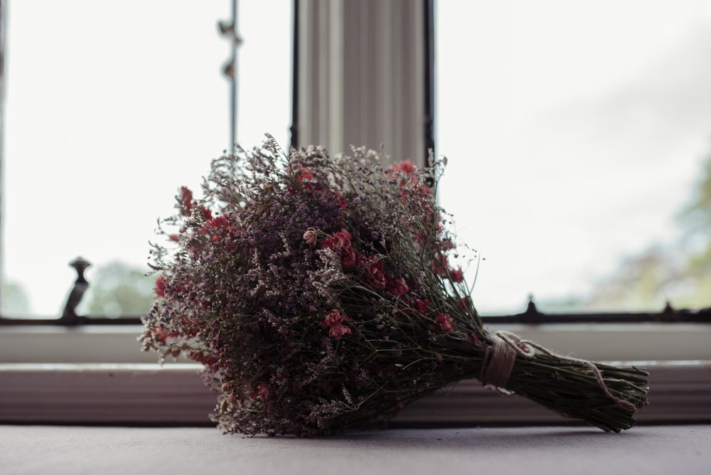 The bridal flowers, dried