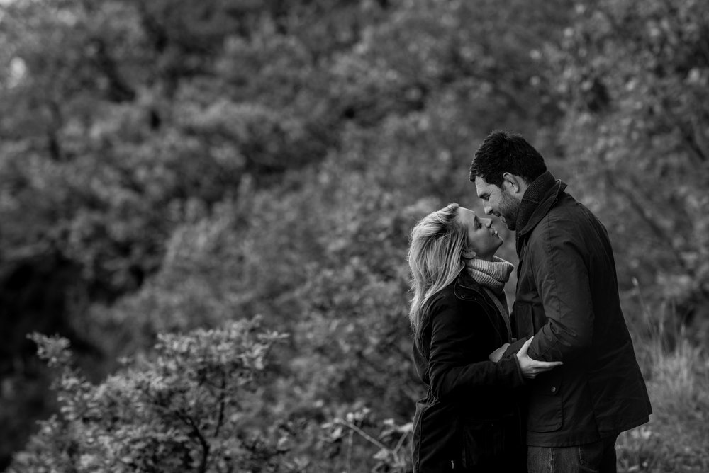 Bride and groom pose for their lake district wedding photography pre-shoot in Keswick