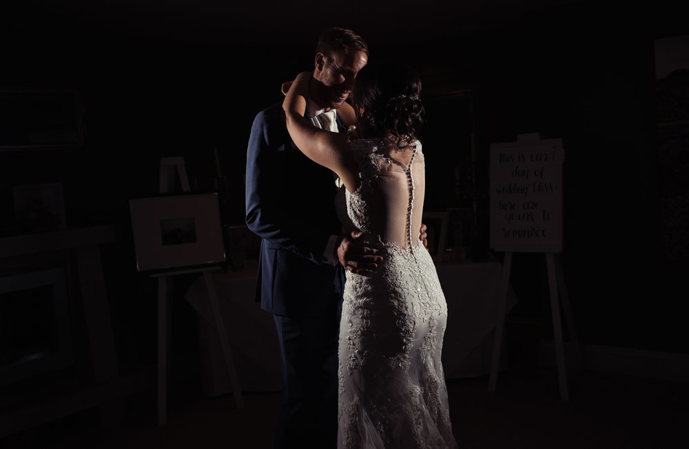 Light and shadow during the first dance