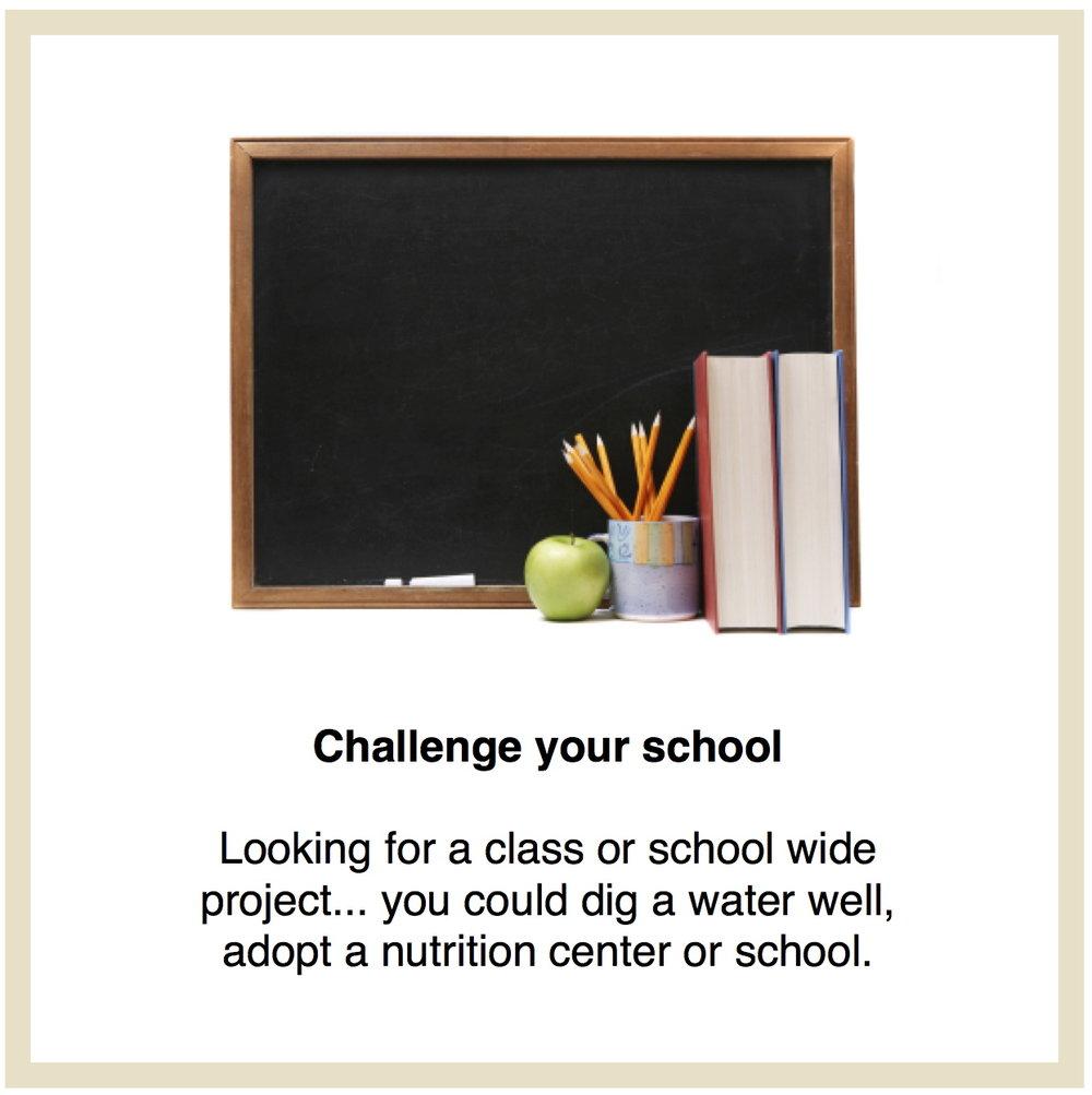 Challenge your school link