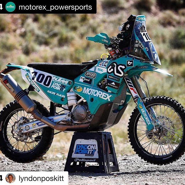 @lyndonposkitts Rex bike from last years @dakarrally  #rexbike #MOTOREX100 #dakarrally
