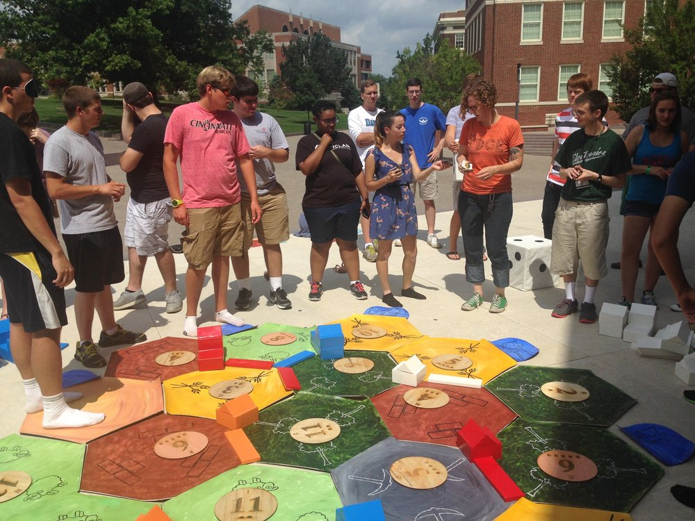 Giant-Sized Settlers of Catan outside TUC. Photo by Emily Speck