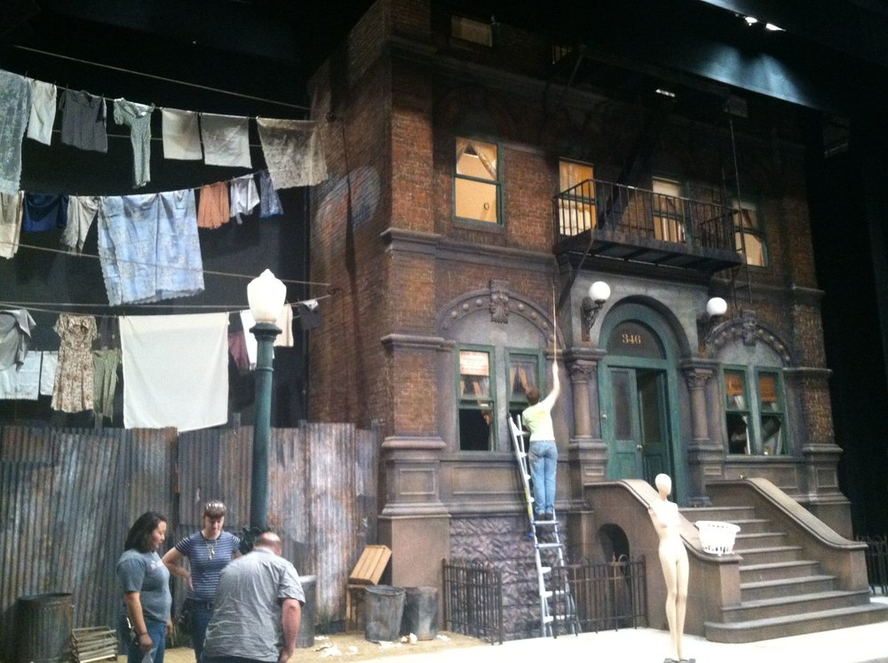 Set at CCM of the play  Street Scene . Photo by Alice Connor.