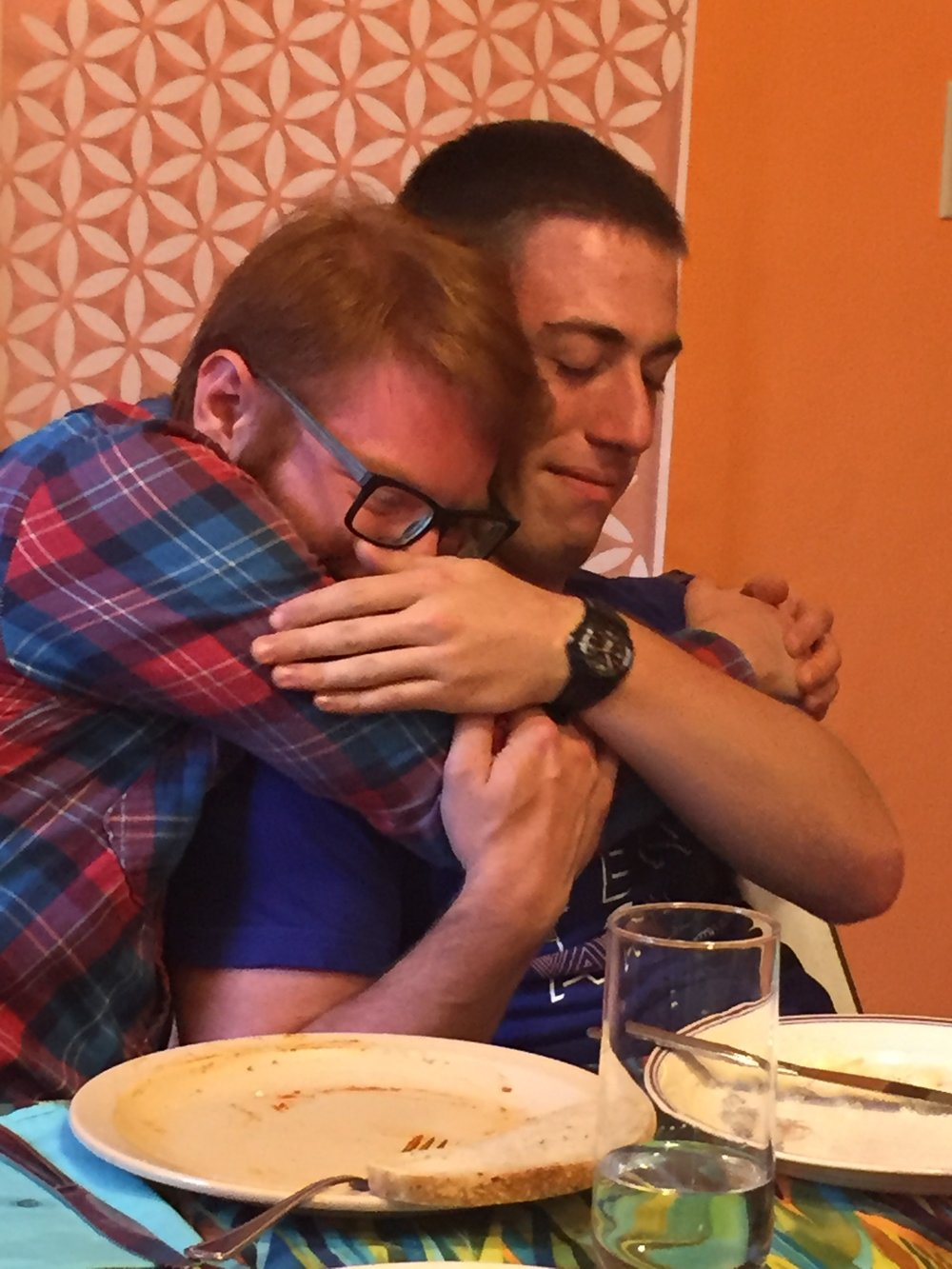Gavin says goodbye to Ben at graduation and godspeed NOSH.