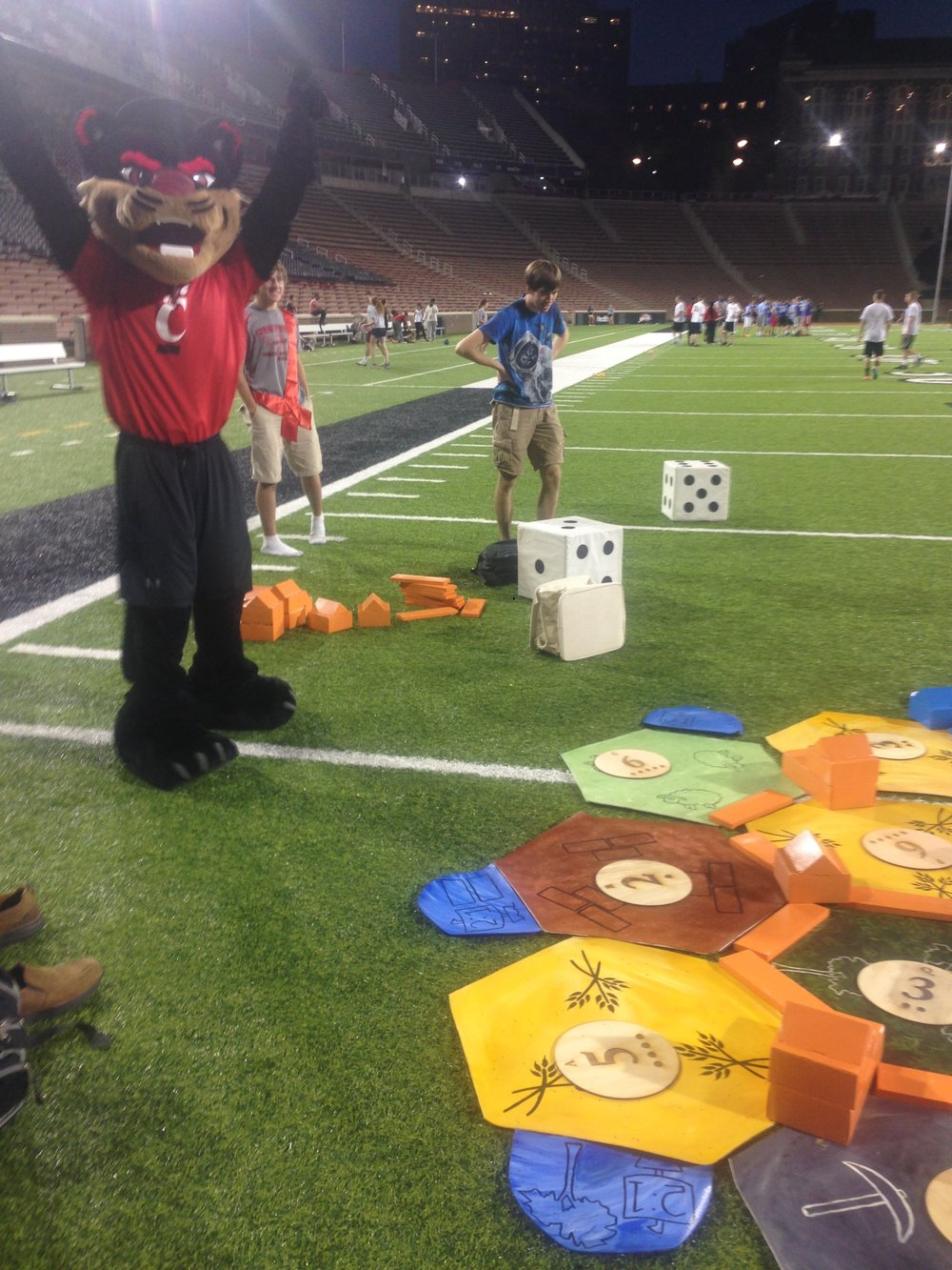 Giant Catan on Nippert with special guest