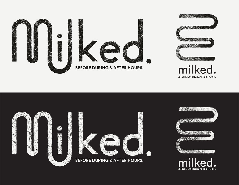 The logo was inspired by the movement and theme of the food truck.