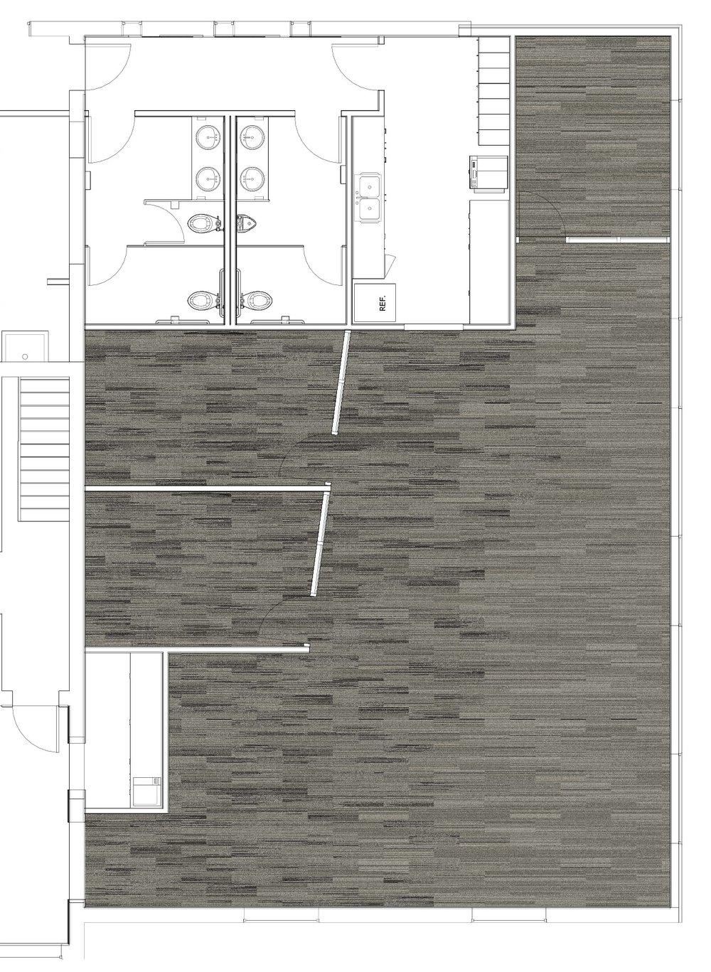 Rinehart Realty - Custom Carpet Fade Pattern