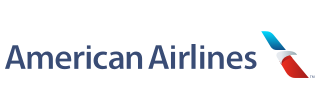 American Airlines Logo with Ticket Counter Hours and Contact Information