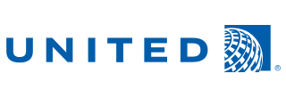 United Airlines Logo with Ticket Counter Hours and Contact Information