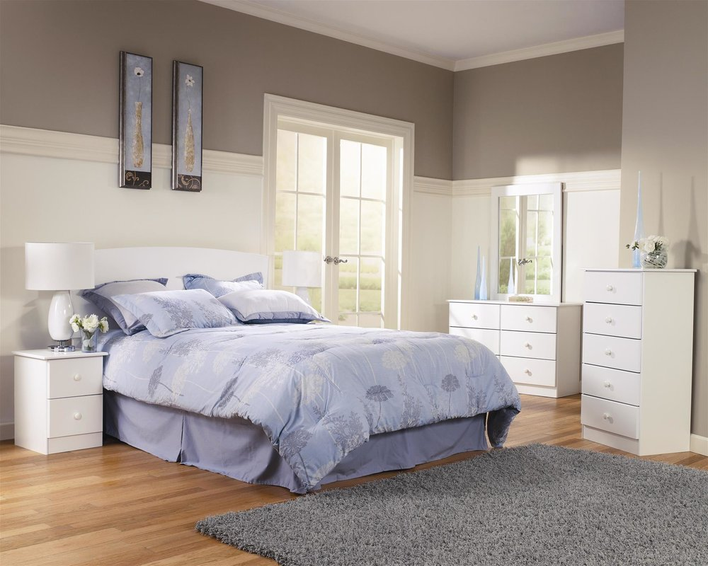 Special White Collection Muti Pic_ 2-Drawer Nightstand $89.95_5-Drawer Special chest $149.95_6-Drawer Dresser $239.95_Headboards T-$109.95_F-$129.95_F-Q$129.95_K-$149.95.jpg