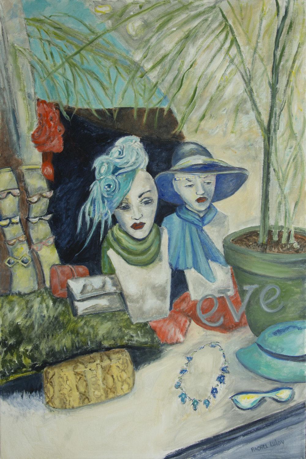 """""""Eve"""" acrylic on canvas 24"""" x 30"""" Rachel Lulov Segall"""