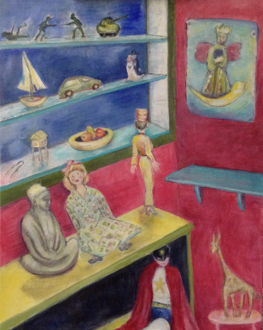 "Our Idols acrylic on canvas 24"" x 30"" Rachel Lulov Segall"