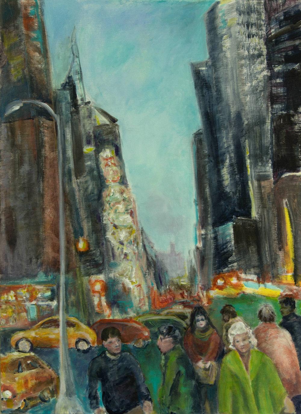 Going Home,, acrylic on canvas, 24 x 30, Rachel Lulov, 2018