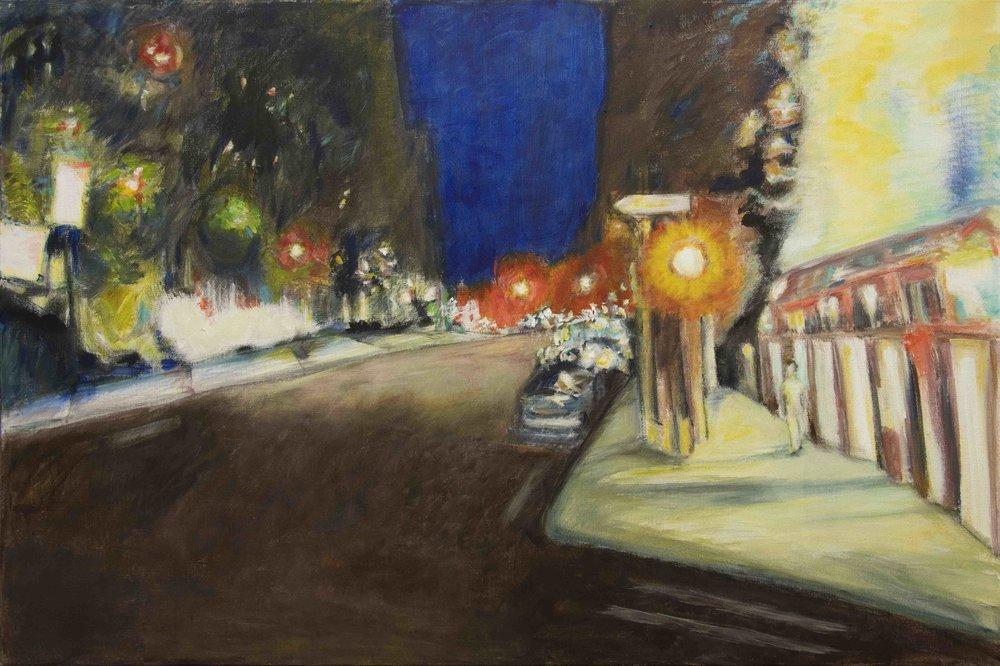 Dead of Night, Rachel Lulov acrylic on canvas 2018