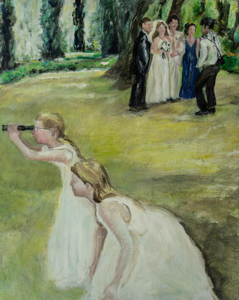 "Looking Forward, Rachel Lulov Segall 2018, 24""30"" acrylic on canvas."