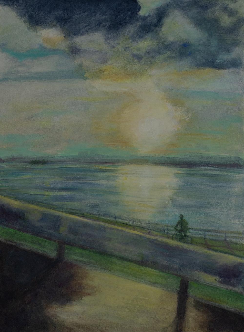 Hudson Rider, 24x 30 acrylic on canvas Rachel Lulov Segall