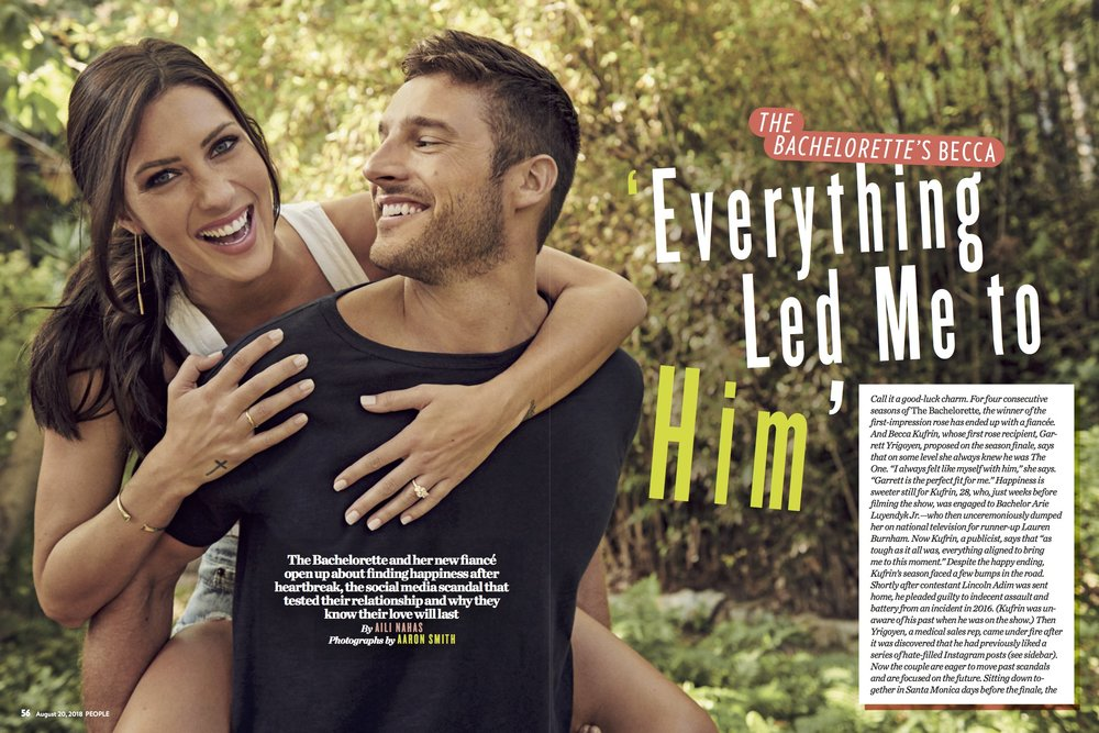 People  Magazine - August 20, 2018: Becca Kufrin in The Shell Bracelet