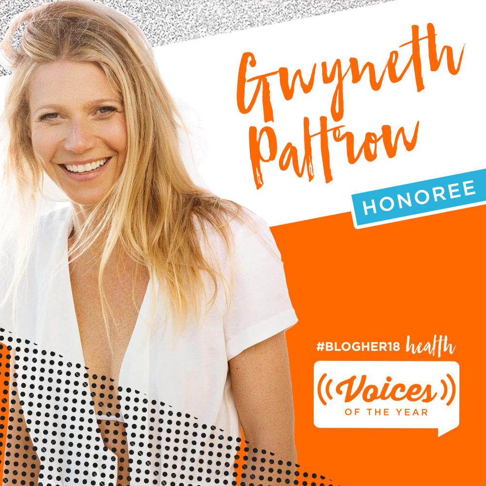 GWYNETH PALTROW<br>goop<br><b>Trailblazer Award</b>