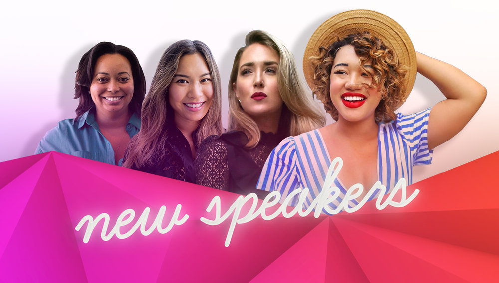 welcome four new badass speakers - We are thrilled for Courtney Quinn, Mary Orton, Annie Wang and Gianne Doherty to share their business success stories this August.