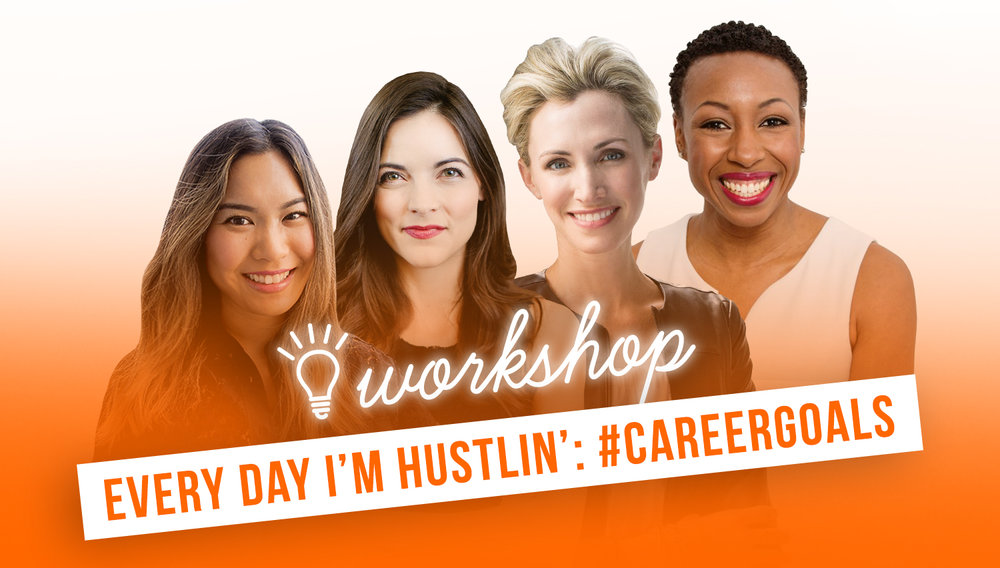 new workshop alert! - Hear Jenny Galluzzo, Annie Wang, Kathryn Minshew and Tiffany Dufu share their experiences in #CareerGoals.