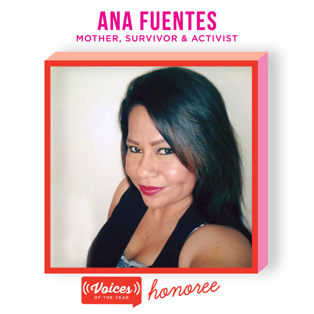 Ana Fuentes is a former account executive and a mother of four. After being implanted with Essure, she faced a slew of health problems that led to the loss of her job and the impossible decision of placing her children with a volunteer foster family. With the help of a local homeless assistance program, and a GoFundMe page set up after the release of The Bleeding Edge, she has found housing and has been reunited with her four daughters. Ana's bravery in sharing her intimate and difficult story has helped shine a light on the harrowing effects of Essure - which was ultimately pulled off the market the week prior to The Bleeding Edge's release.