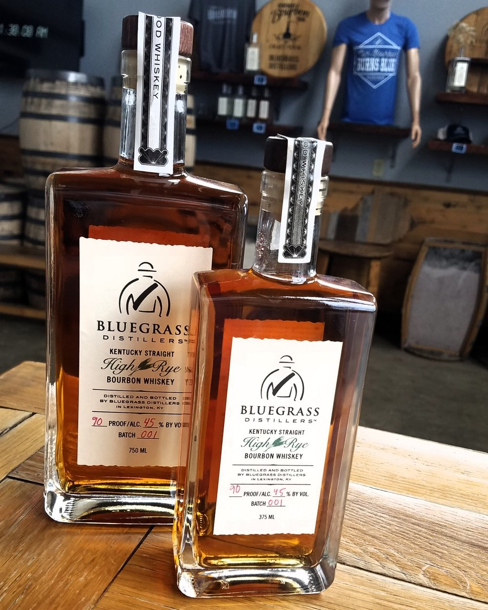 Kentucky StraightHigh rye bourbon - Our flagship bourbon is bottled at 90 Proof and made with 75% yellow corn, 15% rye, and 10% malted barley. It has aromatic notes of butterscotch and spices with a peppery, spiced flavor. Barrel-aged for at least 2 years.Also available in Barrel Drawn