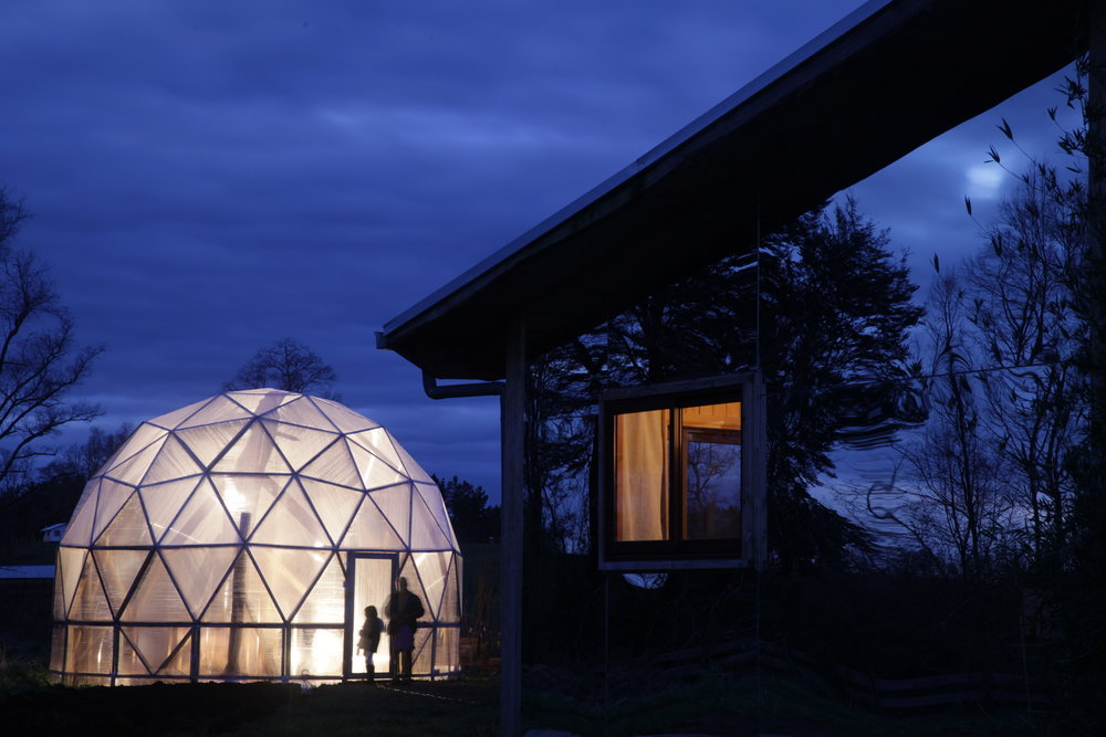 Organic Biodome Greenhouse at Samadhi Eco Resort, Chile
