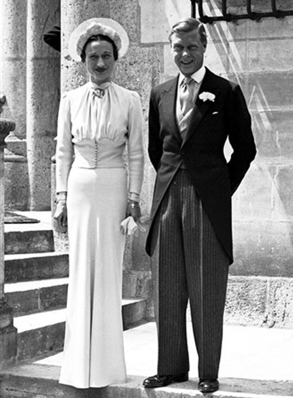 King Edward VIII of England marries American divorcee Wallis Simpson after abdicating the throne.
