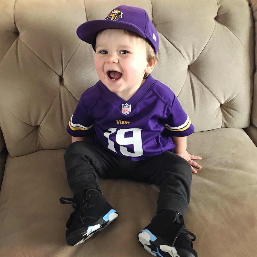Asher's excited for the Vikings vs Saints game!