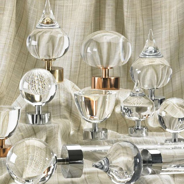 New hardware for your window treatments! #duralee #lucite #hardware #interiors #style #design #modern  behindtgevibe.com