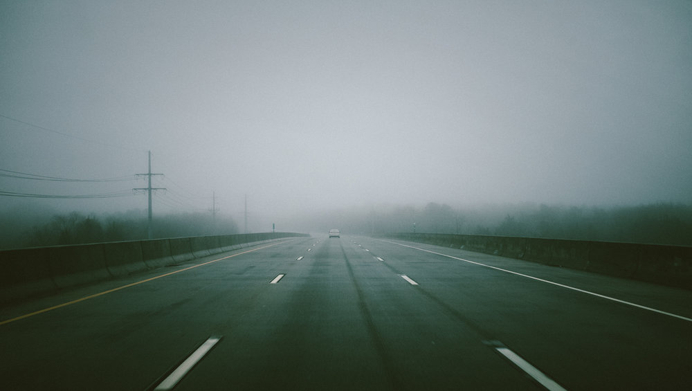 Fog over the road way. Fuji X100f @ f/8