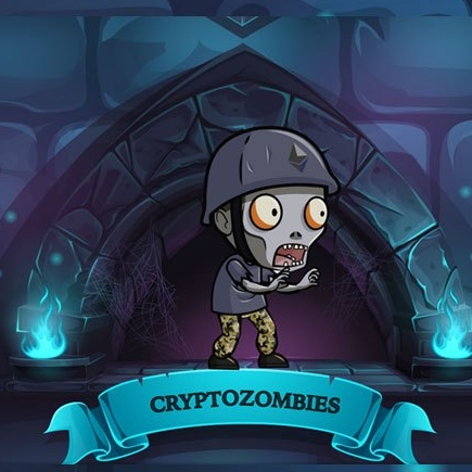 C  rypto zombies   These tutorials made by Loom Network will take you from zero to writing a dapp on the Ethereum blockchain through the programming and design of a game.