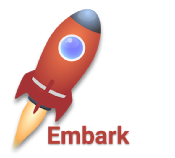 embark   Embark is a framework that allows you to easily develop and deploy Decentralized Applications (DApps). A Decentralized Application is a serverless html5 application that uses one or more decentralized technologies. Embark currently integrates with EVM blockchains (Ethereum), Decentralized Storages (IPFS), and Decentralized communication platforms (Whisper and Orbit). Swarm is supported for deployment.