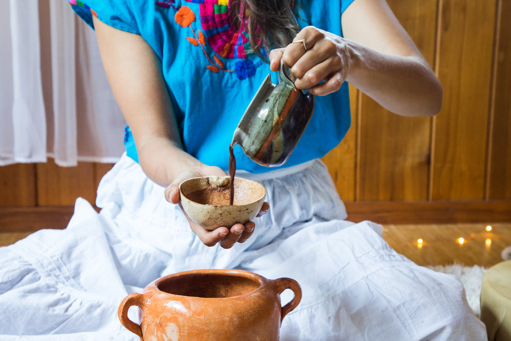 What's Included - How to prepare your own ceremonial drink at homeRecorded heart meditationSisterhood support - a safe and intimate container to be witnessed and heal8 ounces of ceremonial cacao