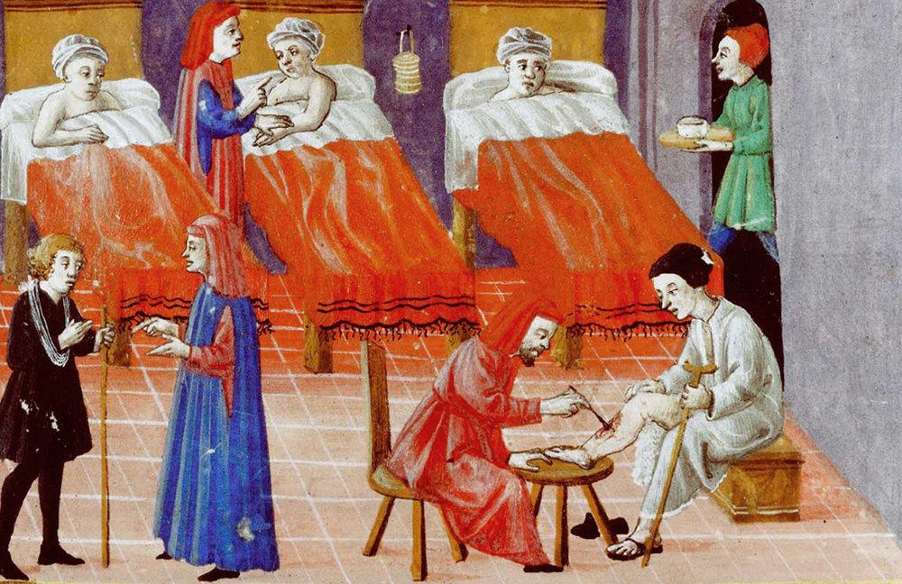Hospital , Codice Squarcialupi, XV century