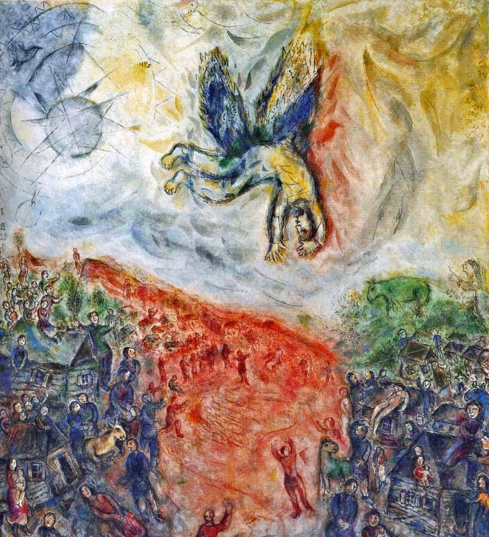 Marc Chagall,  The Fall of Icarus , 1975