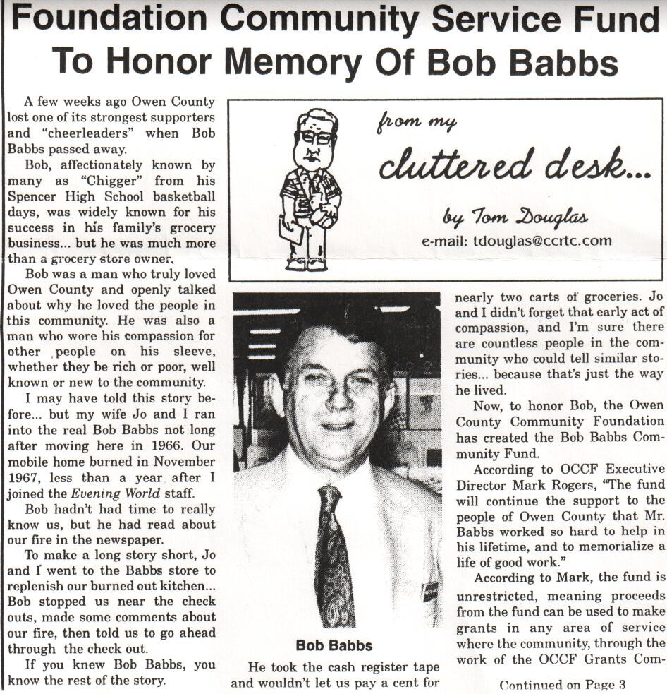 Bob Babbs Community Fund