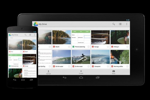 mobile view google drive