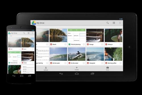 mobile view google drive