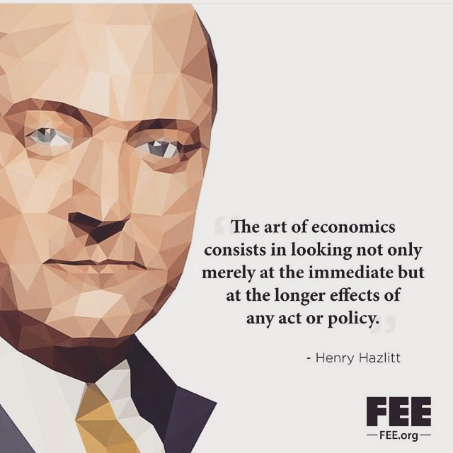 """""""Economics In One Lesson"""" by Herny Hazlitt is one of best books out there on Economics!! Full of reason and logic, easy to understand for the everyday person and short:) Highly Recommend his work. #henryhazlitt #economics #freedomvsforce #knowledgeispower"""