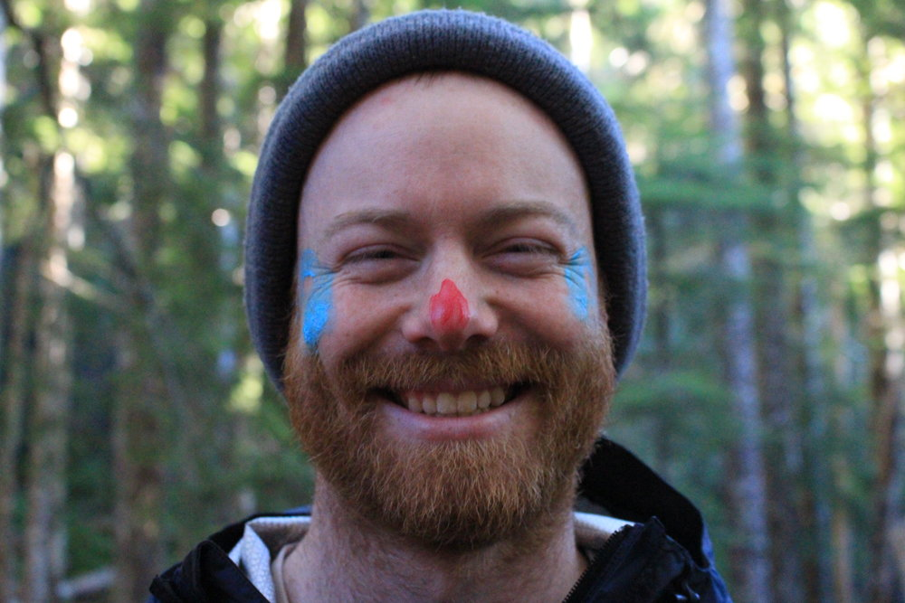 Science Educator wears face paint proudly