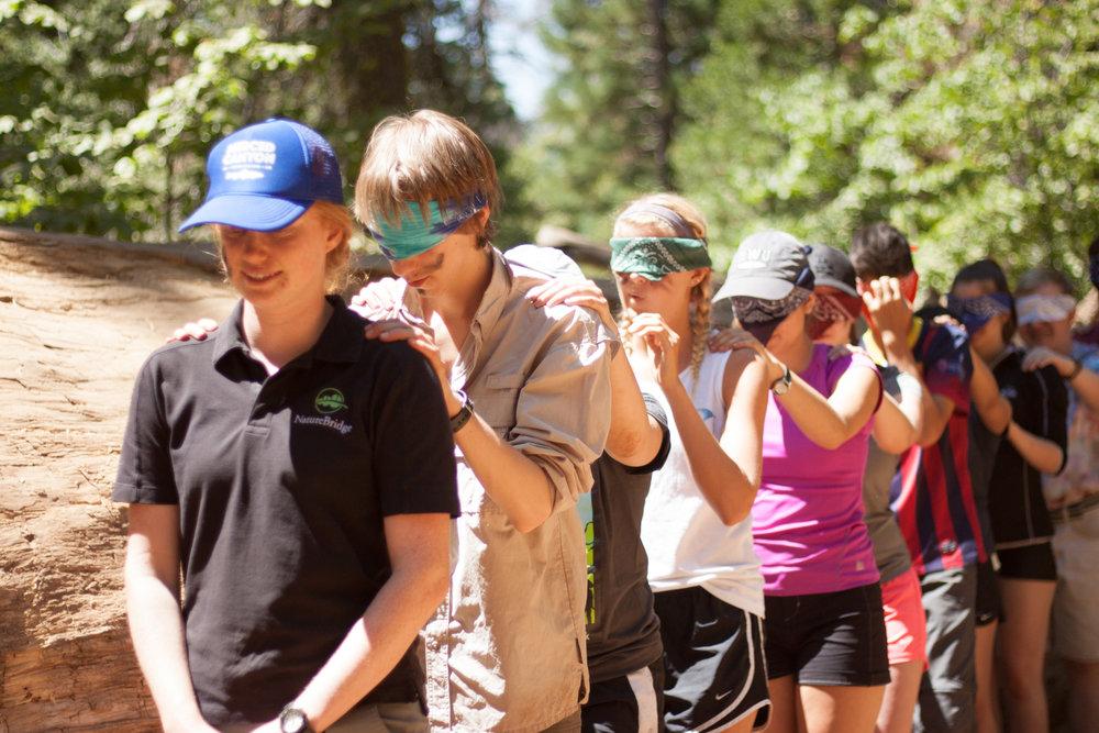 NatureBridge educator helps develop teamwork in Yosemite, California