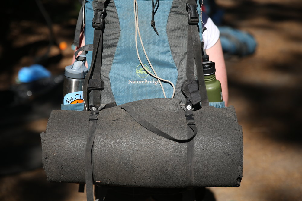 A well-packed backpack! naturebridge is able to loan gear to students for the duration of the trip, as needed.