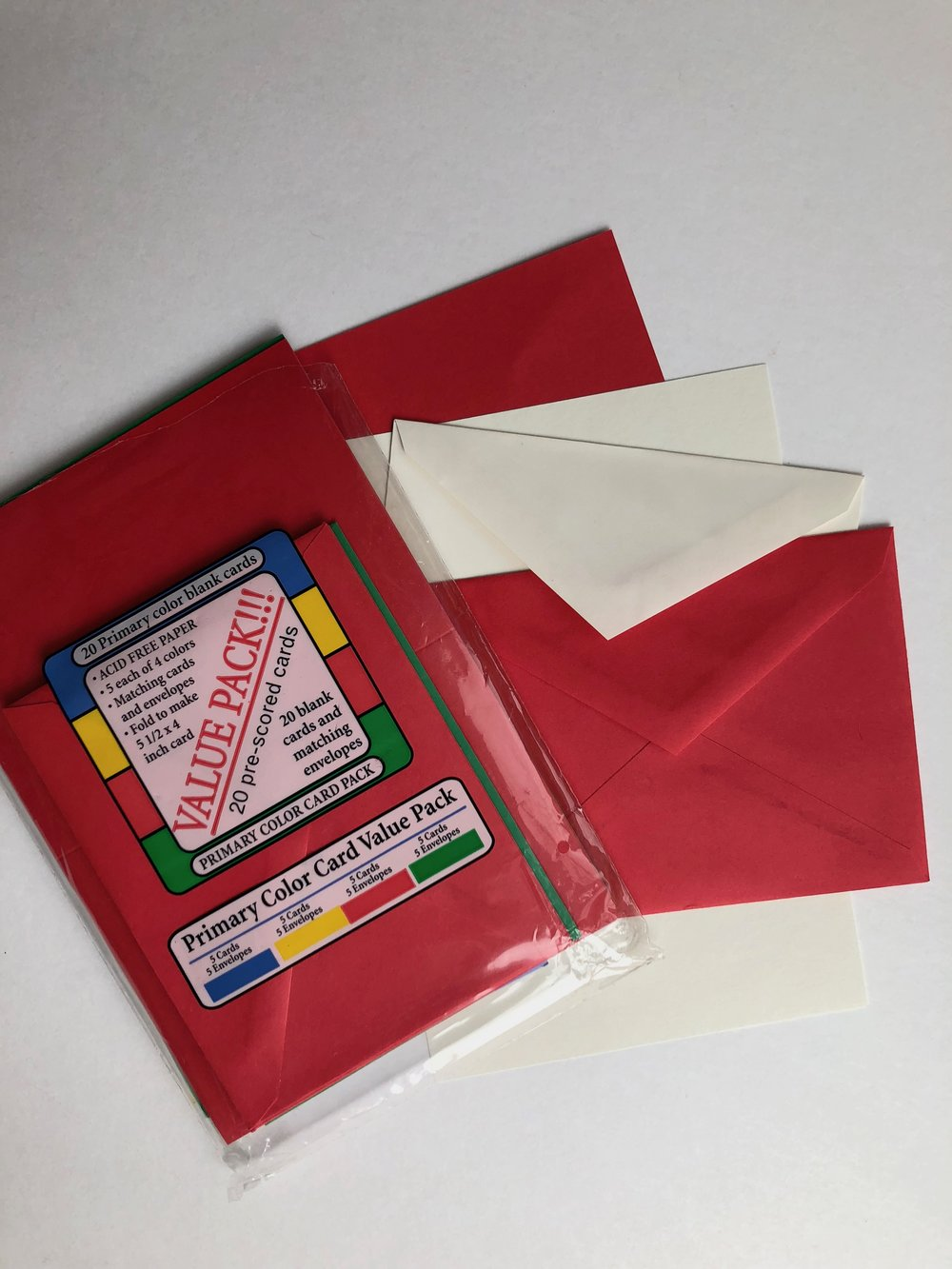 blank greeting card package
