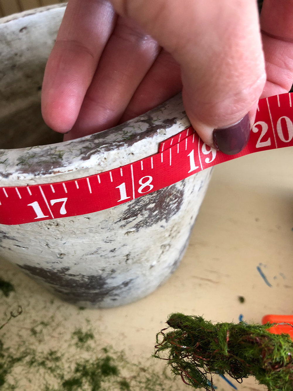measuring pot rim