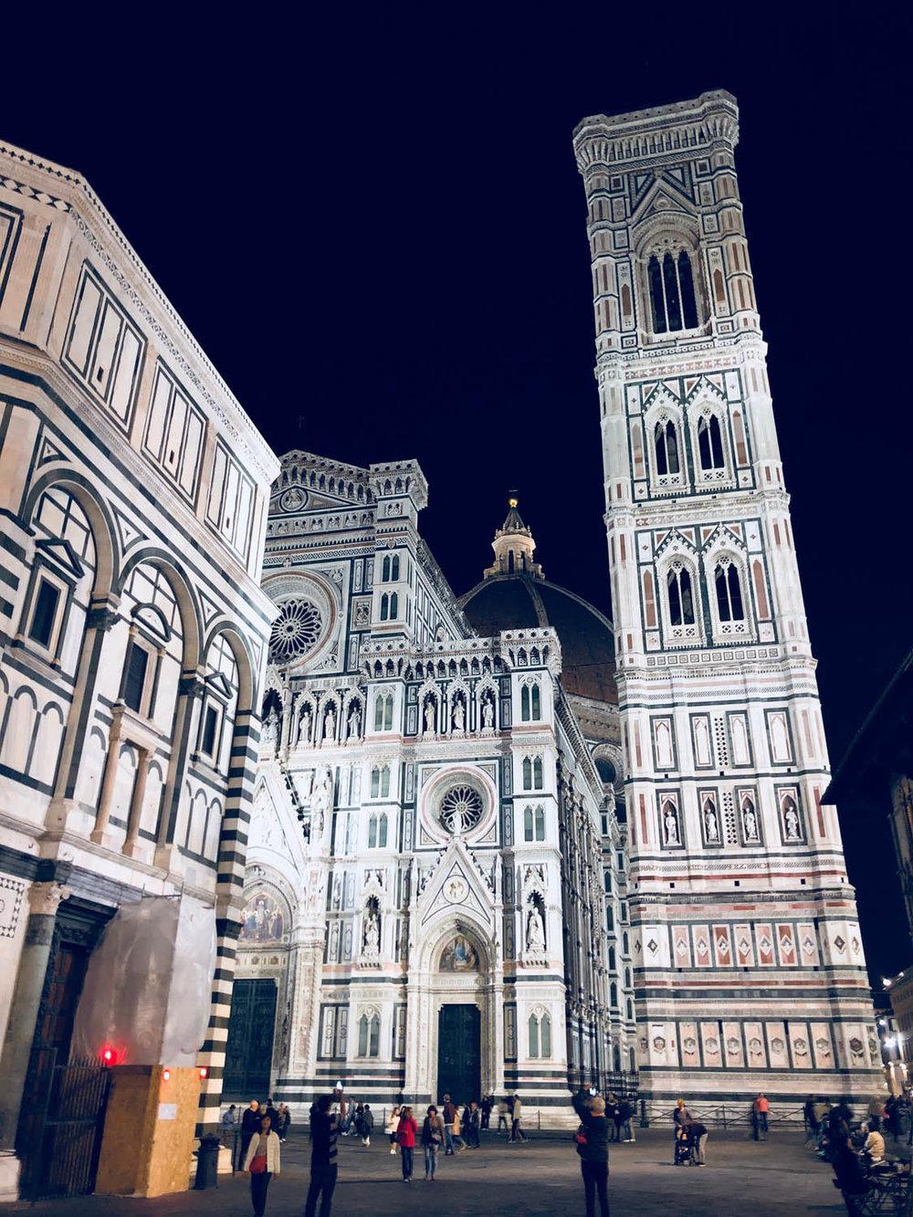 Italian cathedral at night