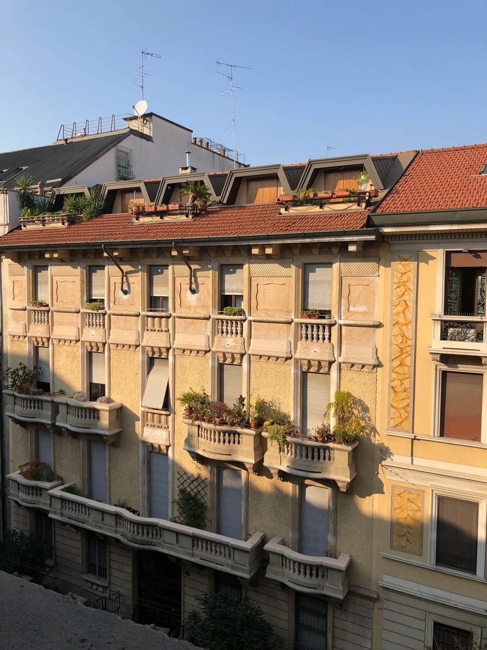 View from my terrace in Milan, Italy