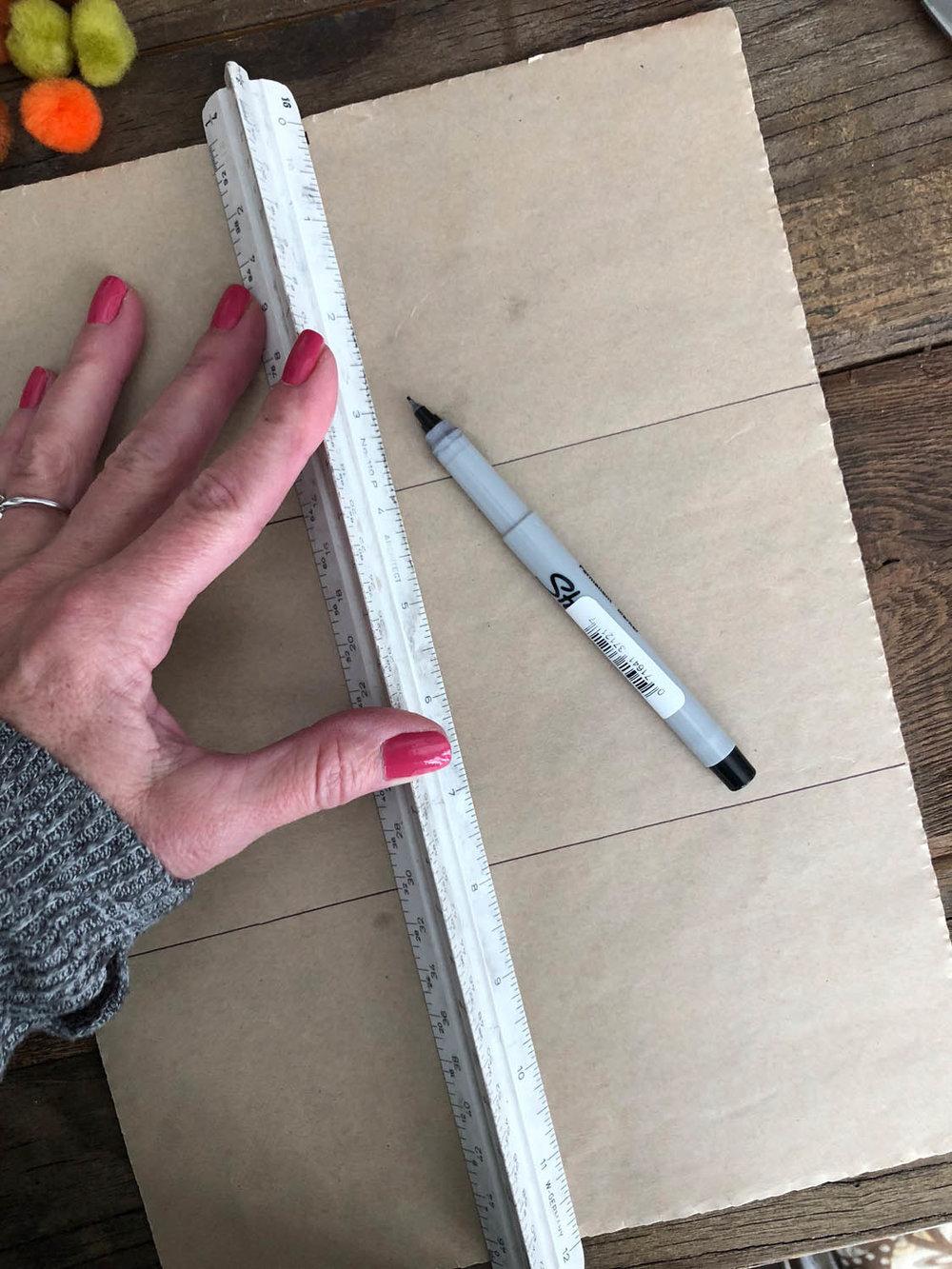 measure and mark felt backing