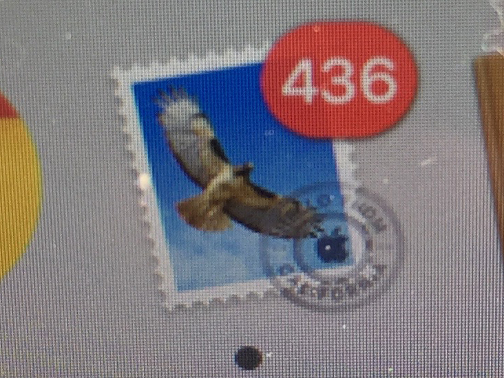 436 emails in my Apple mail inbox